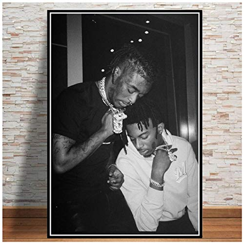 wzgsffs Playboi Carti Lil Uzi Vert Portrait Poster And Prints Wall Art Hip Hop Rock Rapper Singer Print On Canvas Home Bedroom-24X32 Inchx1 Frameless