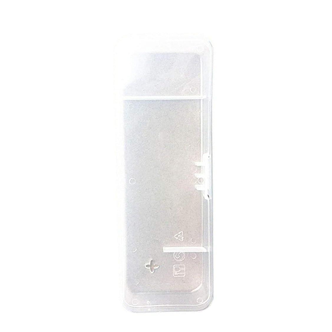 血統ペインギリック遅らせるポータブルメンズカミソリケーストラベルボックスブレードとホルダー収納ボックスシェーバーハンドルボックスカミソリハンドル-透明