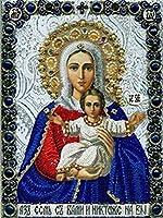 ダイヤモンドの絵画 ラインストーン絵画クリスタルの装飾Diyダイヤモンド絵画「宗教的な人物」3Dクロスステッチパターンダイヤモンド刺繍