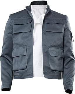 Cosplaysky Mens Halloween Costume Han Solo Cosplay Uniform Jacket