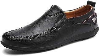 XIANGBAO-Personality - Mocasines para Hombre, cómodos, Informales, Ligeros, de Piel Suave, Transpirables, con Pedal de pie, para Bote, Color Negro, Talla 41 EU