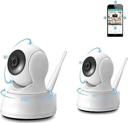 ZJH Casa Telecamera IP di Sicurezza, Sistema di sorveglianza di Sicurezza IP Senza Fili bidirezionale Audio HD 720P Visione Notturna con avvisi di Movimento gratuiti (2 Pack) - Trova i prezzi più bassi