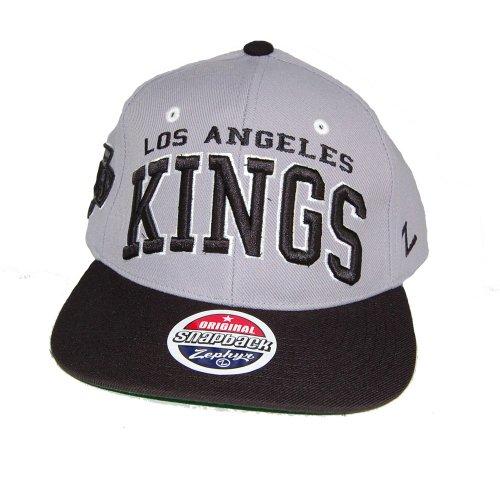 Zephyr Rétro Casquette Snapback la Superstar Kings NHL Gris/Noir os