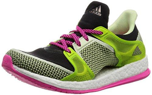 adidas adidas Damen Pure Boost X TR W Fußballschuhe, Schwarz/Rosa/Grün (Negbas/Rosimp/Seliso), EU 36