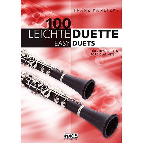 Edition Hage 100 leichte Duette Klarinette