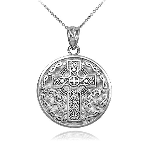 925 Sterling Silver Reversible Irish Blessing Pendant Necklace, 22'