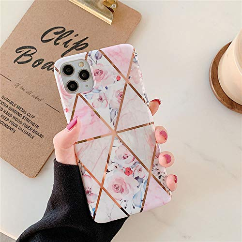 KESHOUJI Plating Flower Phone Cases For iphone 11 Pro XS 11Pro Max XR X 8 7 6 6S Plus SE 2020 Case Back Cover Silicone Soft TPU Shell,4,For iPhone X