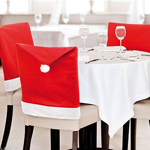 eBuy GB coprisedili per sedie da Pranzo, Rosso, Confezione da 6