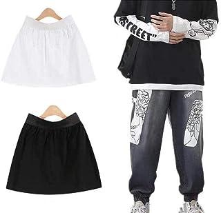 Besthuer - Minigonna per camicie da donna, staccabile, con gonna falsa, regolabile, a stratificazione, gonna inferiore (2 ...