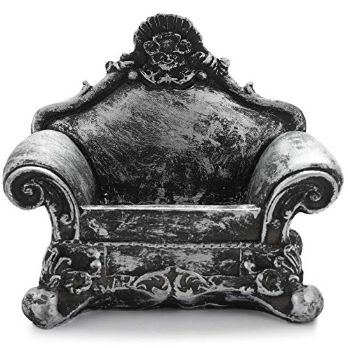 LJJ Soporte de joyería negro de metal en forma de sofá, suspensión de joyería modelo de piso para pulsera collar anillo pendiente, decoración del hogar, sofá individual