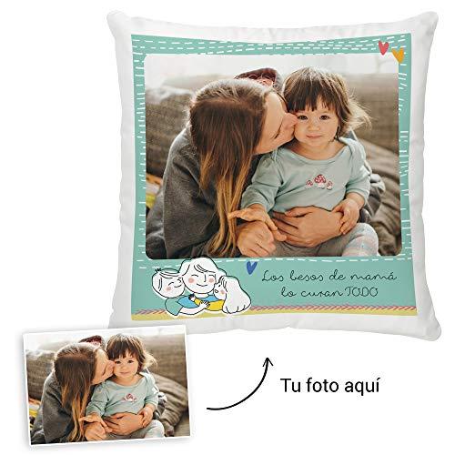 Fotoprix Cojín Personalizado con Foto para Mamá | Regalo Original día de la Madre | Varios diseños Disponibles. (Diseño: Madre 1, 35 x 35 cms)