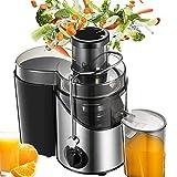 Licuadoras Para Verduras y Frutas, 3 Velocidades Licuadora Prensado Frio Extractor de Zumos Boca Ancha de 65mm,18000 RPM Extractor de Jugos Libre de BPA, con Base Antideslizante