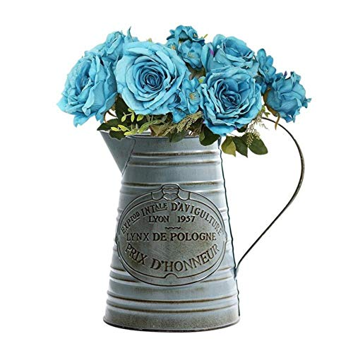 Gbcyp Retro Vaas Planter Terrarium Vintage Tuin Tin Bloem Pot Gedroogde Bloem Tuin Bloem Pot Fleshy Bloem Pot