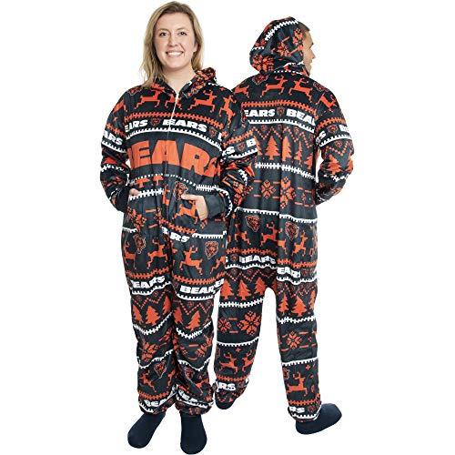 FOCO Chicago Bears NFL Winter Xmas Hooded One Piece Anzug - S