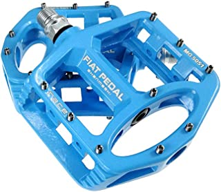 UPANBIKE Magnesium Alloy Bike Pedals 9/16'' Spindle Bearing High-Strength Non-Slip Large Flat Platform for Mountain Bike R...