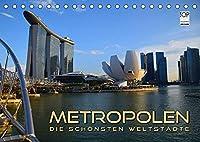 METROPOLEN - die schoensten Weltstaedte (Tischkalender 2022 DIN A5 quer): Skylines und Panoramen der aufregendsten Metropolen rund um den Globus (Monatskalender, 14 Seiten )