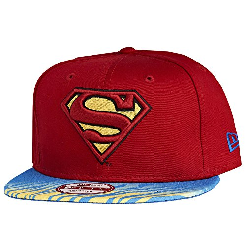 New Era x DC Comics - Casquette Snapback Homme Superman 9Fifty Animal Fade - Red/Blue/Yellow - Taille S/M