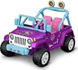 Fisher-Price Power Wheels JoJo Siwa Jeep Wrangler 12V Battery-Powered Ride-on Vehicle for Preschool Kids Ages 3 to 7 Years