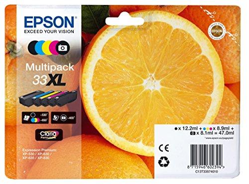 Epson C13T33574011 - Cartucho de tóner adecuado para XP530, multi-pack (negro, amarillo, magenta, cian)
