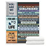 YunTu Blanket to My Girlfriend Super Soft Sherpa Throw Blankets for Bed Sofa and Couch Girlfriend Gifts for Her Fuzzy Warm Blanket