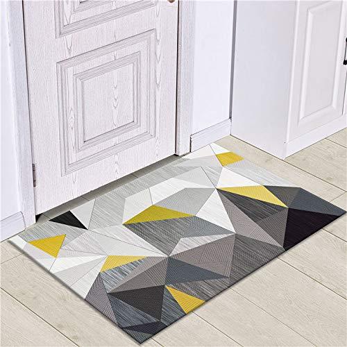 WESG Alfombrillas de impresión geométricas Modernas, Alfombrillas Antideslizantes de Cocina, Alfombrillas de Sala de Estar y alfombras absorbentes de baño NO.12 40X60cm