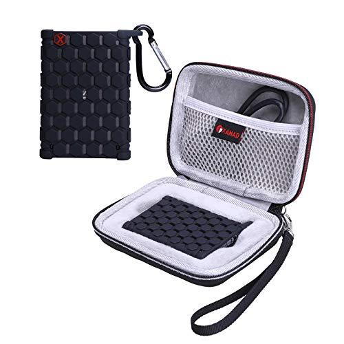 XANAD Tasche mit Silikon Hülle Set Hart Reise Tragen Tasche für Samsung T7 Portable SSD Tragbare Schutz Schutzhülle