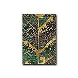 ZXDA Casa de Hoja de Mariposa DIY Pintura por números Paisaje Pinturas acrílicas Lienzo Dibujo Kits Pintados a Mano hogar A11 50x65cm