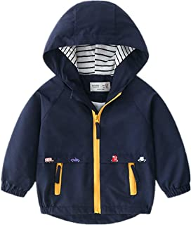 LzCxZDKN Baby Boys Jacket Cotton Striped Fashion Casual Coat Jacket Zipper