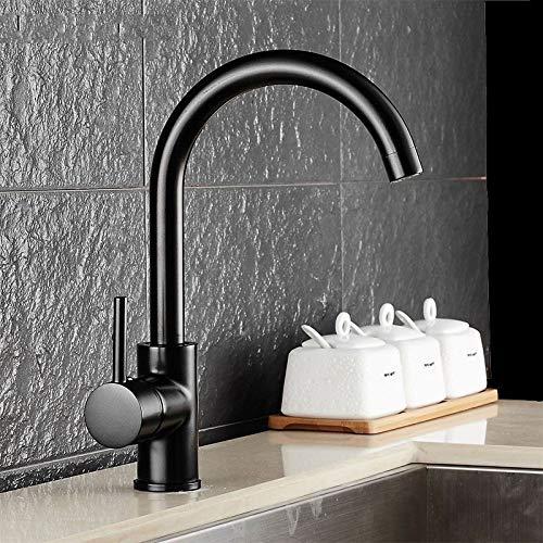 YAWEDA zwart keukenkraan wastafel waterkraan watervalkraan enkele handgreep messing draaien mixer dual sink rotatie keuken