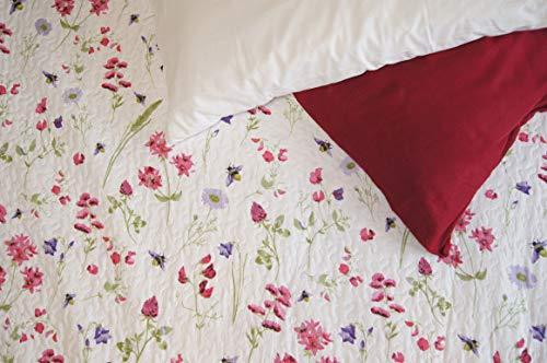 S&G Home Agnese - Colcha de verano para cama de matrimonio, color rojo