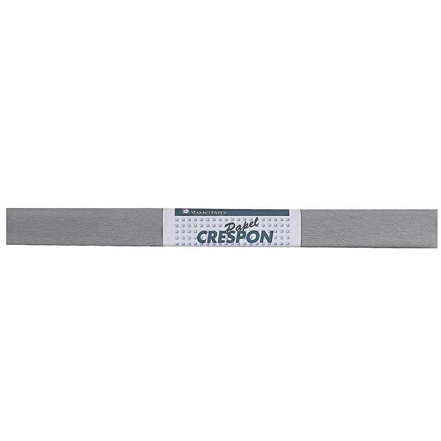 Makro Paper mcp-SLV?–?Crepe Paper, Pack of 10, 50?x 250?cm, Metallic Silver