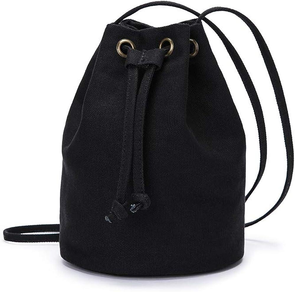 Bucket Bag Purse Women Drawstring Purses Women Bucket Purses Hand Bag Anti Theft Crossbody Purse Zipper HoBo Designer Shoulder Bag- YONBEN (Black)