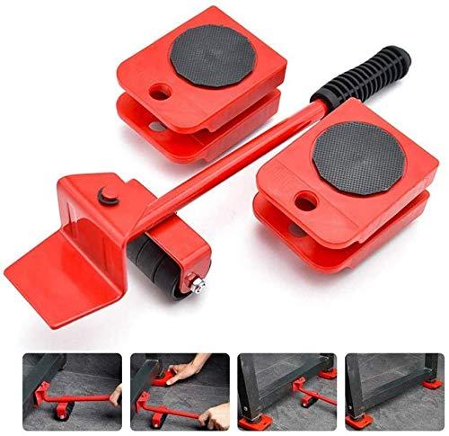 FCXBQ Sistema de mudanza para el hogar de Alta Resistencia - Kit de elevación de Muebles - Juego de Herramientas de Movimiento con 4 Deslizadores - 5 Paquetes de Movimiento fácil y Seguro - Máximo