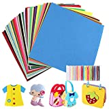 Fieltro para Manualidades 40pcs Hojas de Fieltro Telas Colores para Patchwork Costura DIY Artesanías de Bricolaje Manualidades 30cm x 30cm