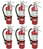 Amerex (Lot of 6) B500 Fire Extinguishers Type Dry Chem ABC, Tagged Ready for Fire Inspections