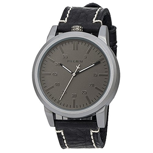 Pilgrim Damen-Armbanduhr XL Analog Quarz Leder 701446105