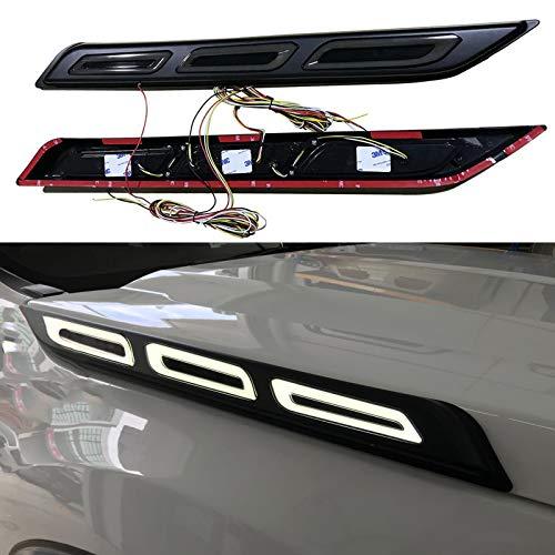 JHCHAN LED DRL Tagfahrlicht,Blinklicht,Doppelblinklicht,Seitenhaubenleuchte für Ford Ranger 2012-2020,T6 T7 T8,XL XLT Wildtrak,PX MK1 MK2 MK3/Ford Ranger Raptor/Ford Everest