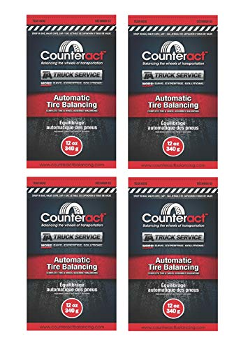Counteract Tire Balance Beads - Four Packs of 12 Ounce Tire Beads - TA Truck Service Tire Balancing Beads.