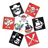 Baker Ross Pochoirs Pirates Baker Ross (Paquet de 6) - Loisirs Créatifs Pour Enfants
