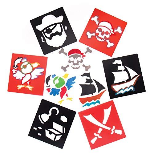"""Baker Ross Schablonen """"Piraten"""" für Kinder – für Bastelarbeiten und Dekorationen (6 Stück)"""