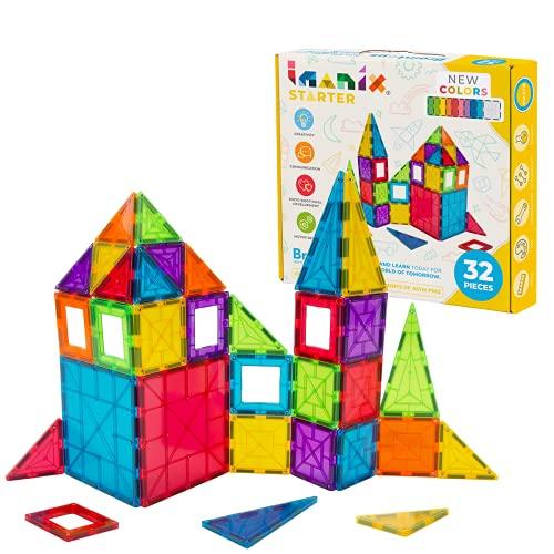 BRAIN TOYS- Braintoys Imanix 32 pzas. Juegos de Habilidad, Multicolor (350032)