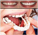 Snap on smile silicone simulation braces whitening braces snapon smile simulation dentures (upper teeth + lower teeth)