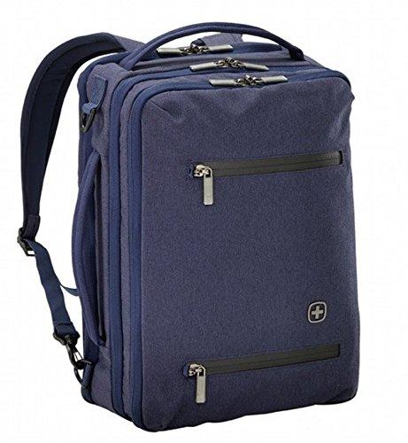 WENGER CityRock 2 in 1 Laptop Rucksack/Tasche, Notebook bis 16 Zoll, Tablet bis 12 Zoll, 21 l, Damen Herren, Uni Schule Business Reisen, Marineblau