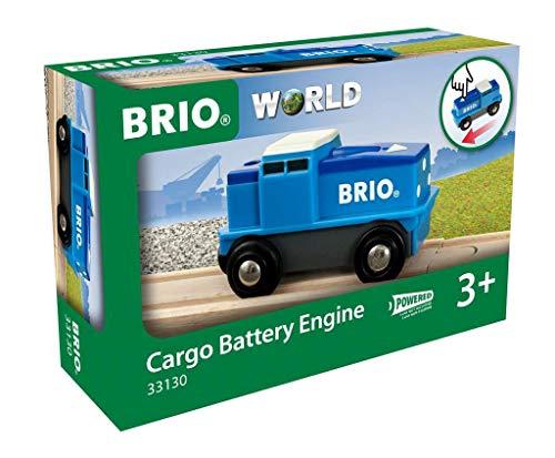 Preisvergleich Produktbild BRIO Bahn 33130 - Blaue Batterie Frachtlok