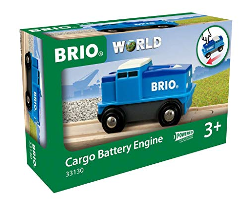 Brio 33130 Locomotora de mercancías a pilas, BRIO Trenes-Vagones-Vehículos, Edad Recomendada 3+