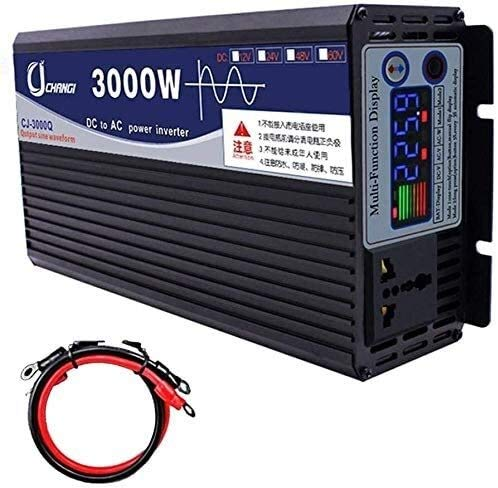 UNBQ coche convertidor 600w-6000W de onda sinusoidal pura Dc inversores de potencia DC 12V / 24V / 48V / 60V a 220V AC Power Inverter de alta eficiencia for teléfonos inteligentes portátil de la tabli