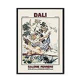 Arte de pared de cara abstracta carteles e impresiones nórdicos chica Retro estilo de exposición de Dali pintura de lienzo sin marco A1 15x20cm
