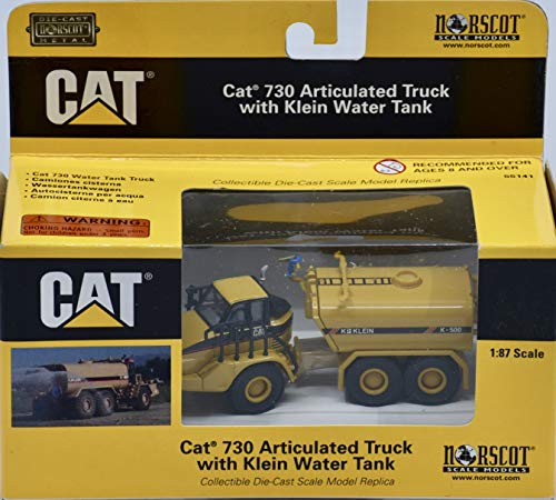CAT 730 Articulated Truck with Klein K500 Tank Die-Cast Collectible - 1:87 Scale
