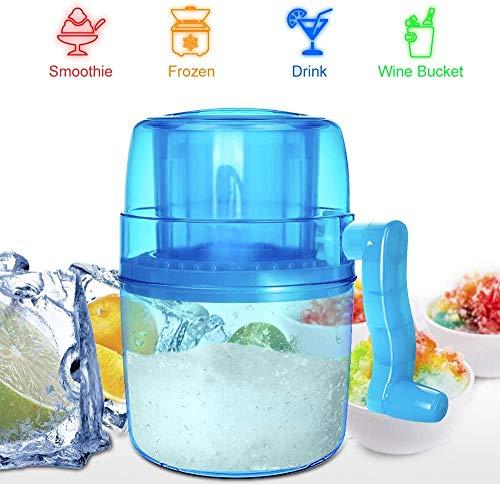 Mini Small Ice Machine, Ice Shaver Und Snow Cone Machine, Premium Manueller Handkurbel-Eisbrecher, Tragbarer Eisbrecher - BPA-frei
