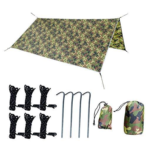 Dasing Ultralight 3Mx3M Camping Tarp Sun Shelter Tent Rain Car Tarpaulin Waterproof Cover Sun Shade Camouflage Awning